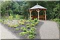 SE2753 : Woodland shelter at RHS Garden Harlow Carr by Graham Hogg