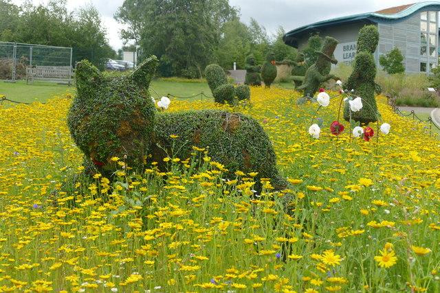 Cheshire Cat in the Wonderland Topiary Garden