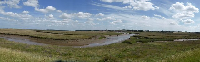 Looking over Overy Marshes towards Burnham Overy Staithe