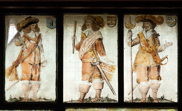 St Chad's church, Farndon - the Civil War window (5)