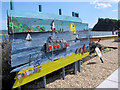 SX9472 : Recycled Quarry Boat on the Den Promenade, Teignmouth by Chris Reynolds