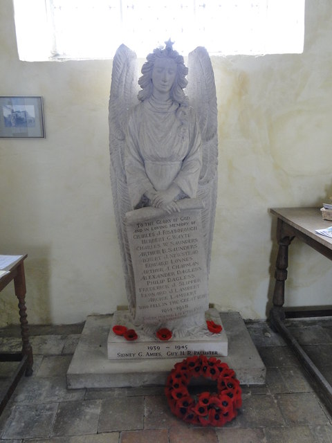 The War Memorial in Wickmere church