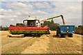 SK8770 : Barley harvest by Richard Croft