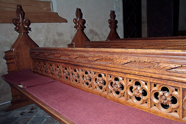 Pew in St Mary's West Tofts