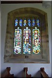 SD9772 : Memorial window in Kettlewell Church by David Smith