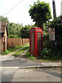 TM1266 : Telephone Box off Hockey Hill by Adrian Cable