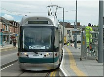 SK5236 : Tram at Chilwell High Road stop by Alan Murray-Rust