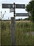 TM1169 : Roadsign on Deadman's Lane by Adrian Cable