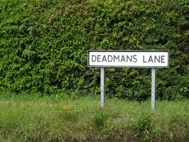 Deadmans Lane sign