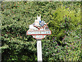 TG2439 : Northrepps village sign (detail) by Adrian S Pye