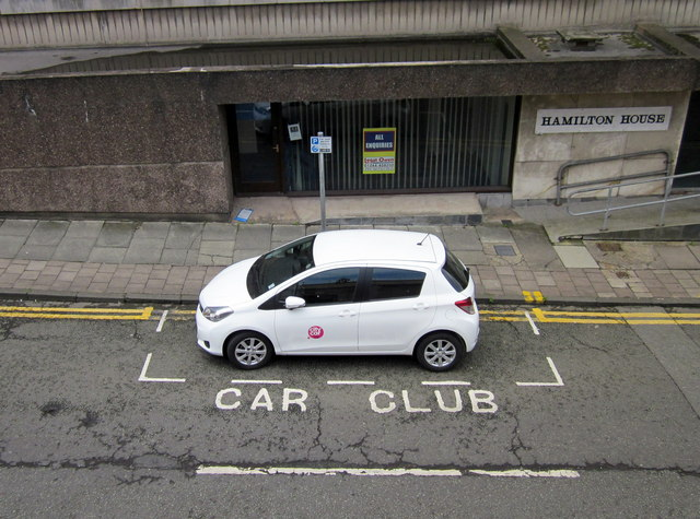 Car Club parking spot, Hamilton Place, Chester