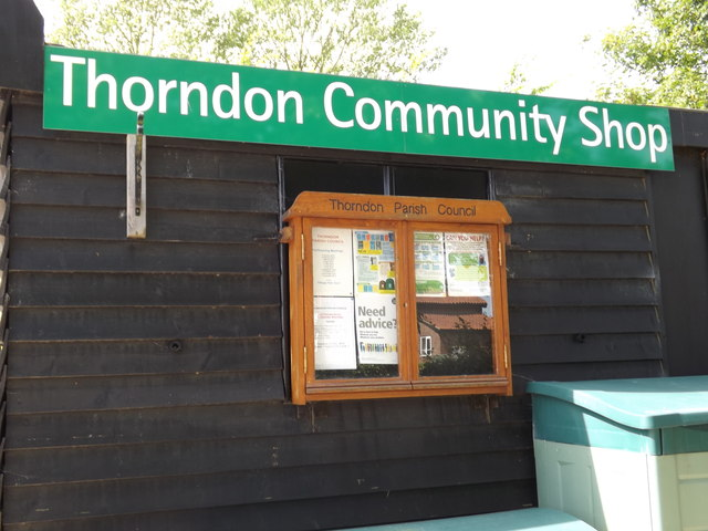 Thorndon Community Shop sign & Notice Board