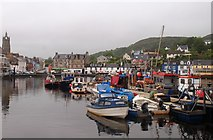 NR8668 : Pontoons Tarbert harbour by Steve Houldsworth