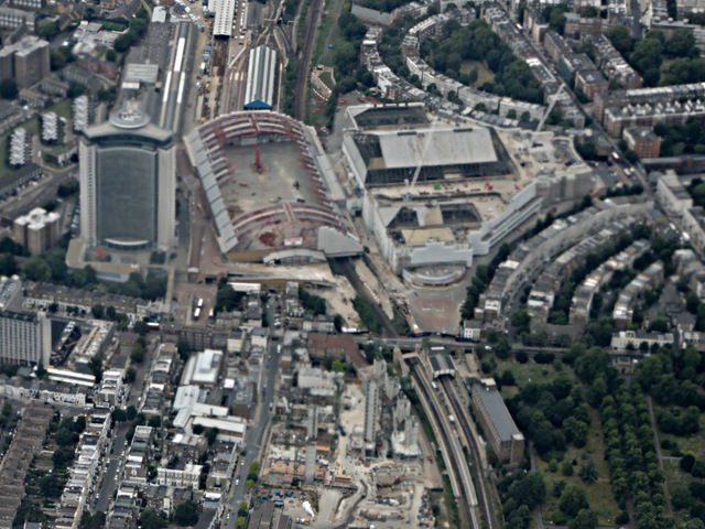 Earl's Court demolition from the air