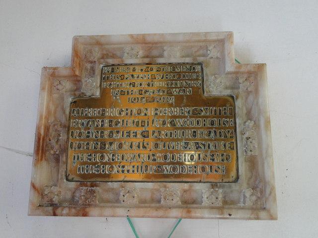 Witton (near North Walsham) War Memorial