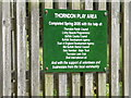 TM1369 : Thorndon Play Area sign by Adrian Cable