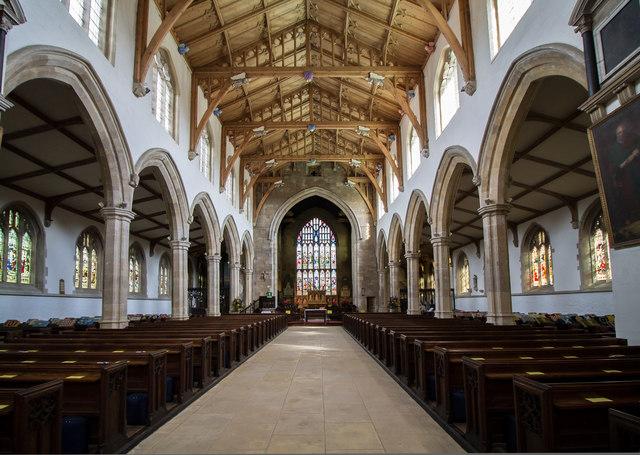 Interior, St James' church, Louth