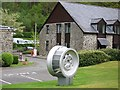 SN7079 : Decorative turbine, Rheidol power station by Rudi Winter