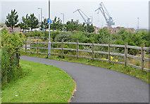NS3174 : Coastal path at Port Glasgow by Thomas Nugent