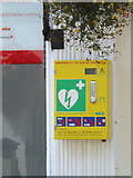 TM3863 : Defibrillator at the Co-op Pharmacy by Adrian Cable