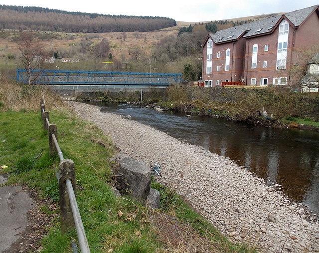 River footbridge from Aberfan to Merthyr Vale