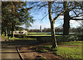 SP3277 : Memorial, bowling greens and café, War Memorial Park, Coventry by Robin Stott
