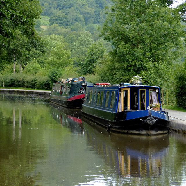 Moored narrowboats near Cheddleton, Staffordshire