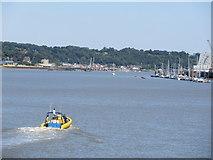 TQ7568 : Jetstream heading along the Medway by David Anstiss