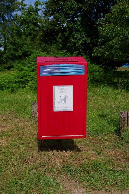Dog waste bin, King's Wood Car Park, near Challock, Kent