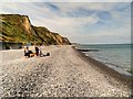 TG1543 : Looking West from Sheringham Lifeboat Station by David Dixon