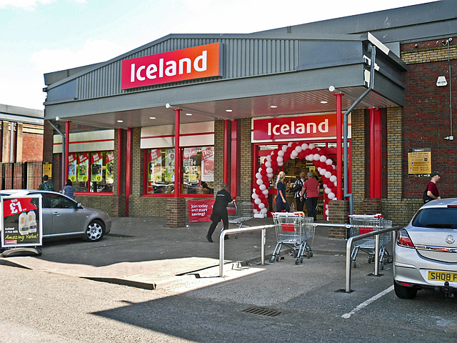 Opening day, new Iceland store