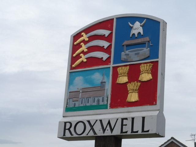 Roxwell village sign