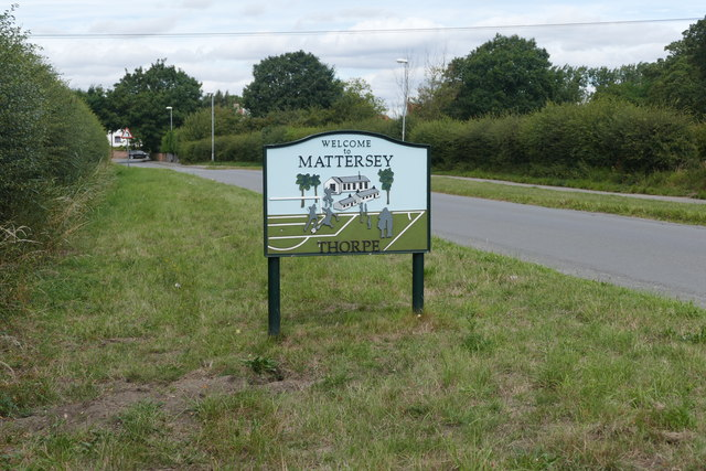 Mattersey Thorpe village boundary sign
