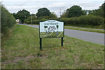 SK6889 : Mattersey Thorpe village boundary sign by Graham Hogg