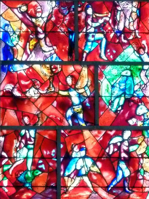 Chichester Cathedral - Chagall Window - detail
