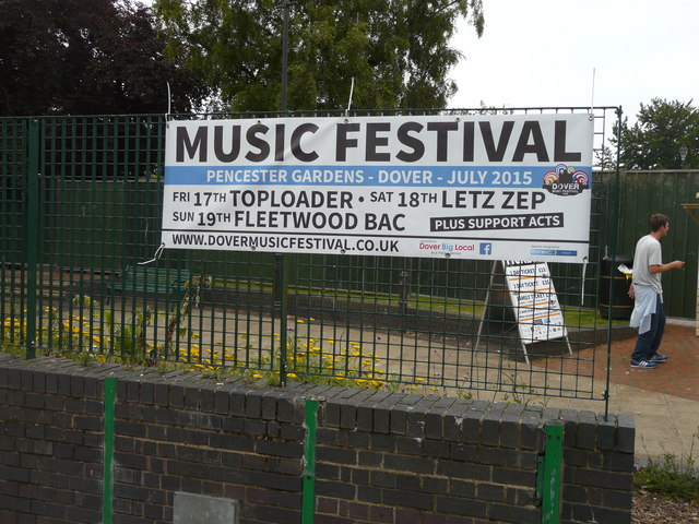 Placard advertising music festival