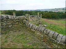 SE0322 : Wall across Sowerby Bridge FP141, Link D by Humphrey Bolton
