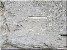 SJ0566 : Ordnance Survey Cut Mark by Adrian Dust