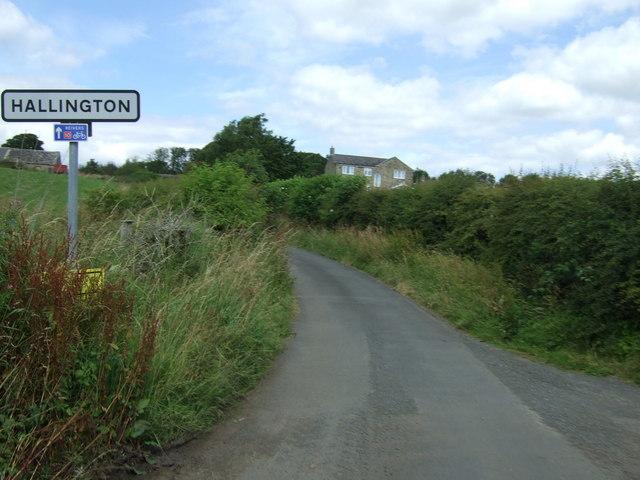 Entering Hallington