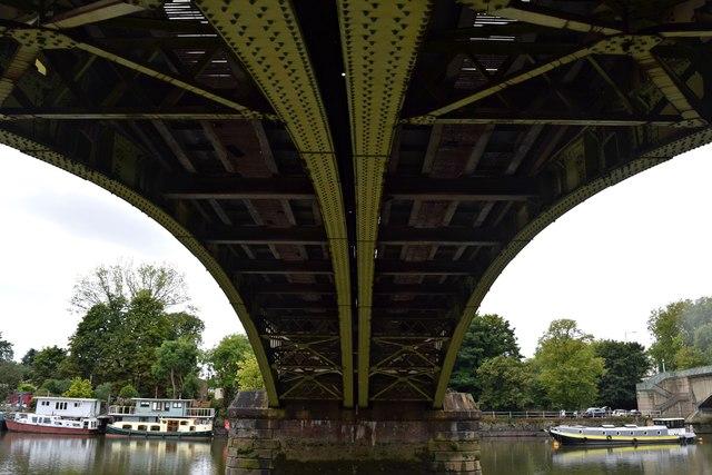 Underneath Richmond rail bridge