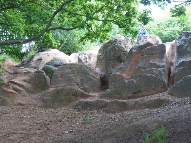 Eroded sandstone at Lymm Dam