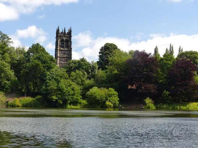 Lymm Dam and St Mary the Virgin, Lymm