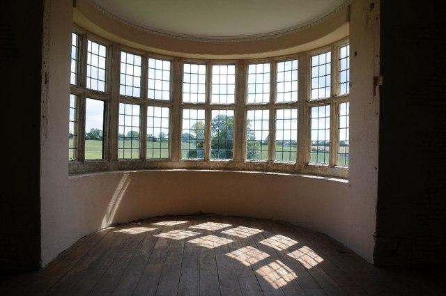 Sun shining through a bay window