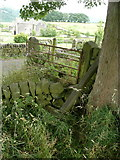 SE0322 : Blocked footpath and fallen footpath sign at Bowood Lane by Humphrey Bolton