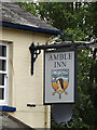 TL1414 : The Amble Inn Public House sign by Adrian Cable