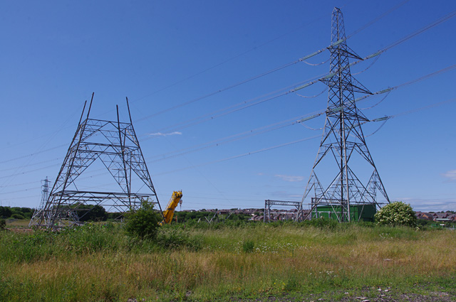 Middleton sub-station under construction
