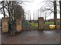 ST3390 : NE entrance to Cold Bath Road cemetery, Caerleon by Jaggery