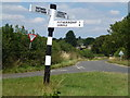 TL0393 : Finger post sign south of Woodnewton by Richard Humphrey