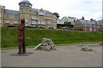 TA1280 : Fisherman statue, Filey Promenade by David Smith