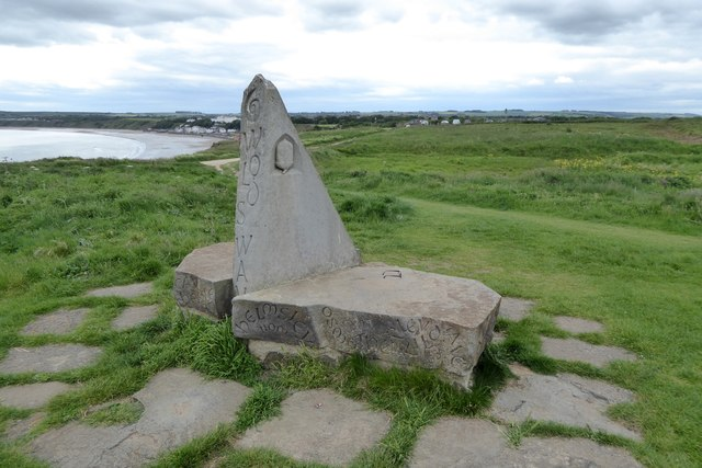 Two monuments for the price of one, Filey North Cliff